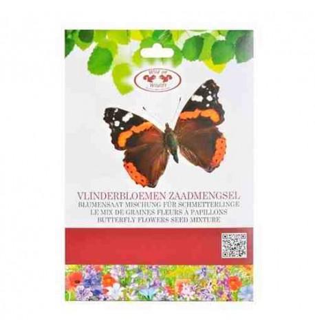 Mezcla de semillas de flores para atraer mariposas