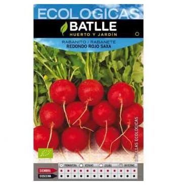 Rabanito redondo rojo punta blanca ecológico 100g