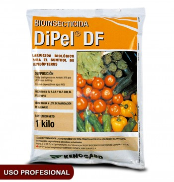 Insecticida larvicida biológico BT DIPEL DF 1kg