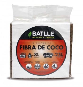 Sustrato fibra de coco 3x650g