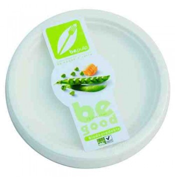 Platos de fibra 100% compostable 18cm 25 unid.