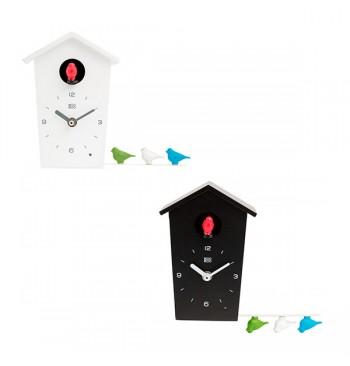 Reloj de cuco mini con cantos de aves