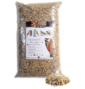 GRANA-S Mezcla de semillas sin cáscara para pájaros
