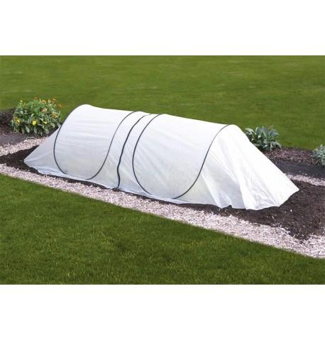 Tunel de cultivo con lona de tela