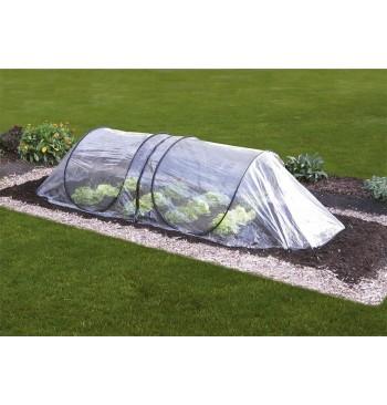 Tunel de cultivo de PVC transparente