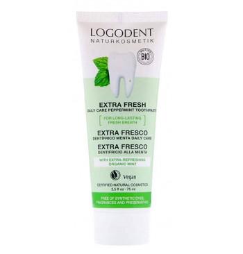 Dentífrico extra fresco menta Bio 75ml Logona