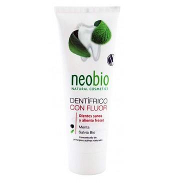 Dentífrico con flúor Menta y Salvia Bio 75ml Neobio