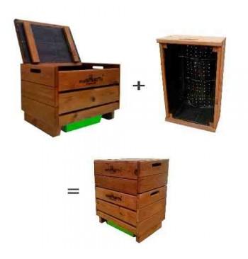 Vermicompostador modelo Frutero + cajón extra