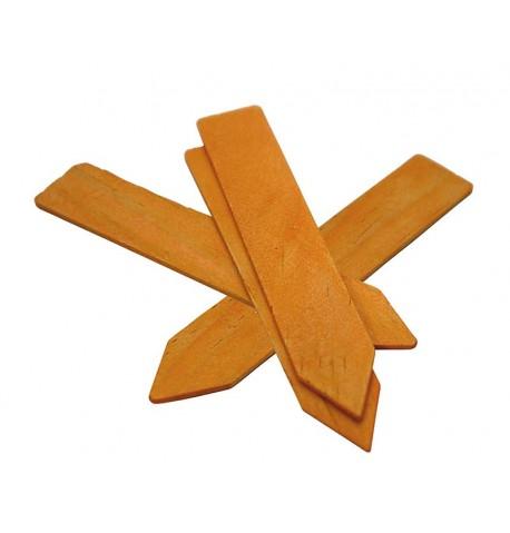 Etiquetas de madera 10cm (15 unid.)
