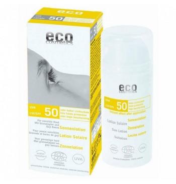 Loción solar SPF 50 con granada y goji Eco Cosmetics 75ml
