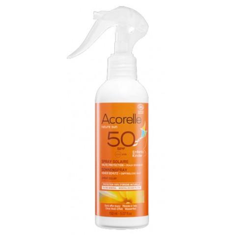 Spray Solar infantil SPF50 Bio 150ml Acorelle