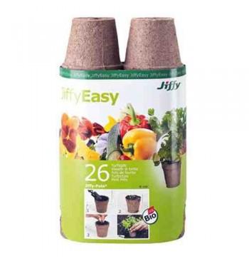 Jiffypot macetas biodegradables 6cm 26 unid.