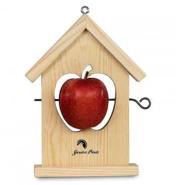 Comedero de madera para fruta manzana