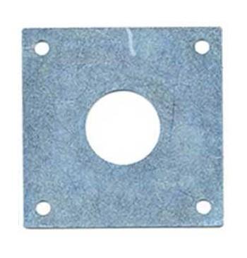 Placa metálica cincada antipícidos 26mm