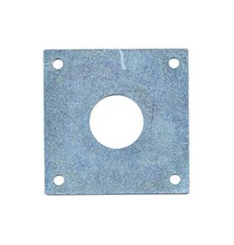 Placa metálica protectora antipícidos
