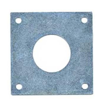 Placa metálica cincada antipícidos