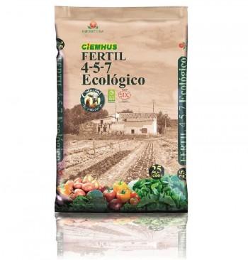 Fertilizante Ciemhus Fertil 4-5-7 ecológico en palé (42 sacos de 25kg)