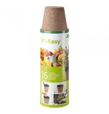 Jiffypot macetas biodegradables 8cm 16 unid.