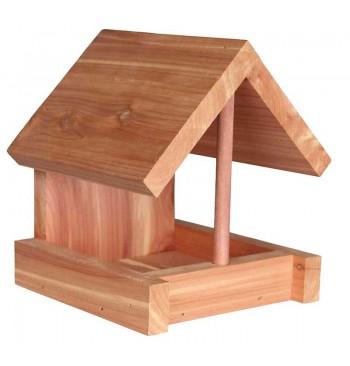 Comedero de madera de cedro