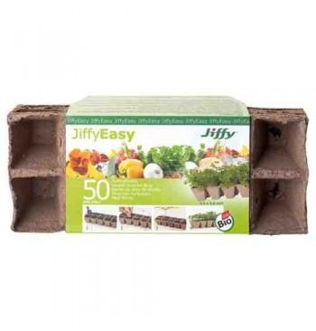 Jiffystrips macetas biodegradables 4,5x4,5cm 50 unid.