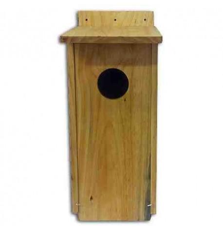 Caja nido para mochuelo en madera tratada