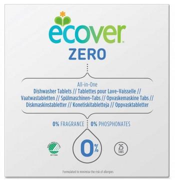 Pastillas para lavavajillas Zero sin perfume 25 u. Ecover