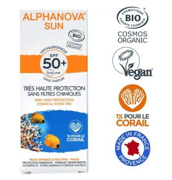 Protector solar Bio SPF50+ Hipoalergénico 50ml Alphanova