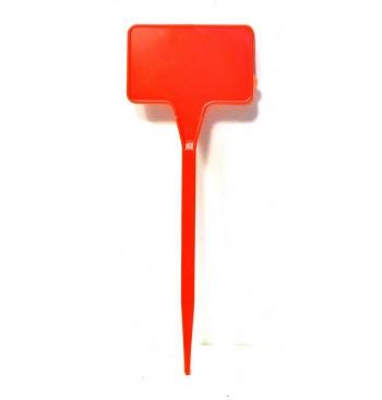 Etiqueta de plantación 15cm roja
