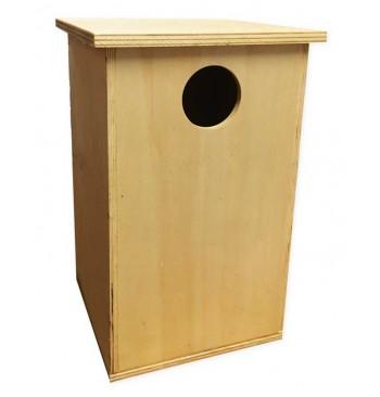 Caja nido de madera para carraca