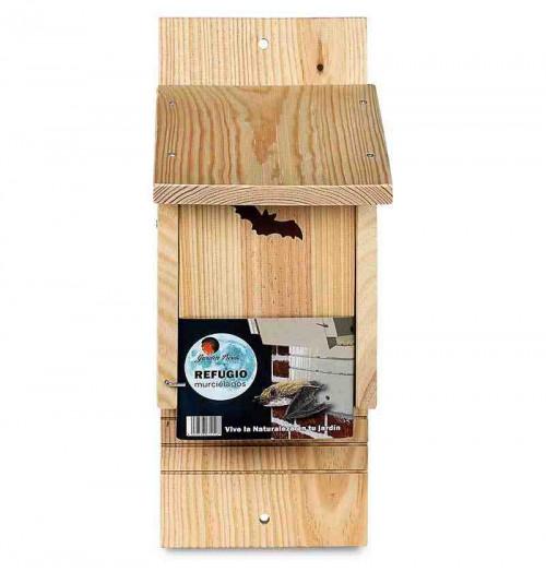 Caja nido de madera para murciélago + guía Murciélagos