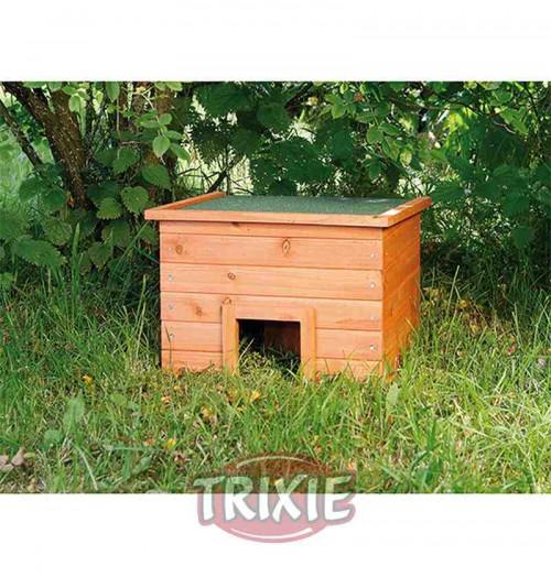 Refugio de madera para erizos