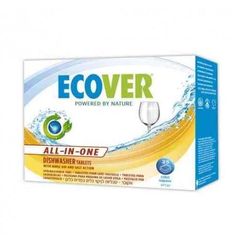 Pastillas ecológicas para lavavajillas 3 en 1 Ecover 25 unid.