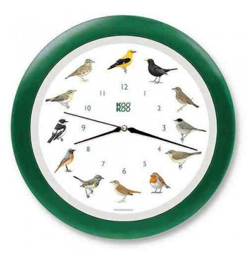 Reloj de pared con cantos de aves