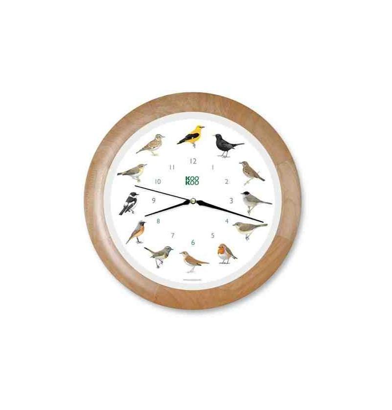 Reloj de pared con cantos de aves - BioHuerto